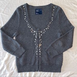 American Eagle Outfitters Rhinestone Sweater M